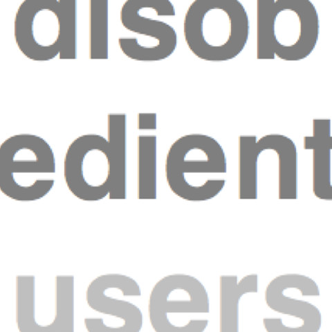 Disobedient users
